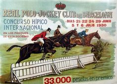 Vintage posters from @CSIOBarcelona via @The Chronicle of the Horse