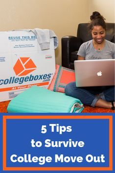 It's not too early to start thinking about college move out day. Check out our 5 tips to survive college move out using Collegeboxes. College Moving Tips, College Hacks, College Fun, Student Storage, Moving Truck Rental, Memories With Friends, Packing Supplies, Moving Out, Ask For Help