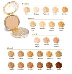 Jane Iredale Pure Pressed Base Foundation Colors