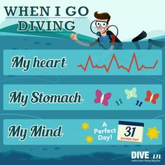 How do you feel every time you dive? #diving #infographic #scuba