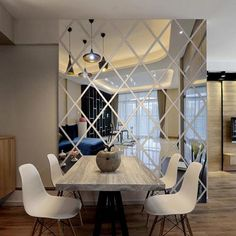 Diamonds Triangles Wall Art Acrylic Mirror Wall Sticker House Decoration DIY Wall Decals Art for Living Room Home Decor - Gold / Large Diy Home Decor Bedroom For Teens, Rooms Home Decor, Diy Bedroom, Bedroom Cleaning, Bedroom Ideas, Light Bedroom, Decor Room, Trendy Bedroom, Bedroom Wall