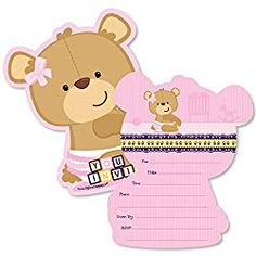 Free Printable Twinkle Twinkle Little Star Baby Shower Invitations Luxury Baby Girl Teddy Bear Shaped Fill In Invitations Baby Shower Invitation Cards with Envelopes Set Of 12 Baby Girl Shower Themes, Baby Shower Invites For Girl, Baby Shower Decorations, Royal Baby Showers, Star Baby Showers, Printable Baby Shower Invitations, Invitation Ideas, Invitation Design, Teddy Bear Baby Shower