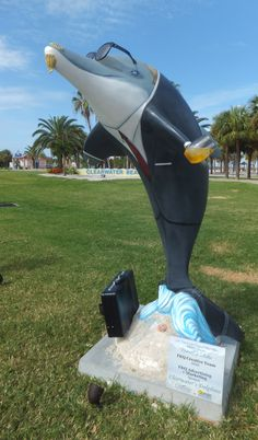 Sponsor and artist:  FKQ Advertising & Marketing  One of 50 themed dolphins on display at Pier 60 Park, #Clearwater until 9/4/12.  #ClearwatersDolphins