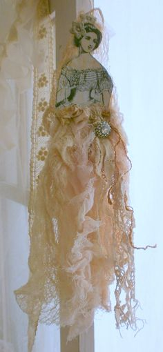art doll with ribbon skirt. Actually thought about this and I love seeing that someone tried it. Looks beautiful. I too, will give it a try.