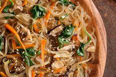 Japchae (Korean Stir-Fried Sweet Potato Noodles)