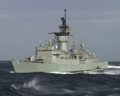 Frigate Extremadura (F-75), Baleares Class, Spanish Navy, decommissioned in 2006.