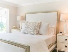 serene white bedroom design