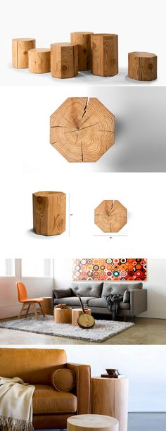 Fun end tables or coffee tables! Elegant and stylish, I love it!