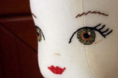 Doll Making - Colouring the Eyes
