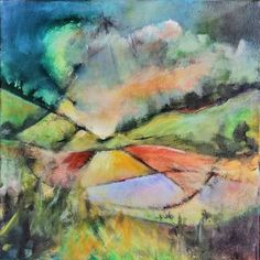 A strange little canvas before I left the studio last week. Abstract Landscape, Abstract Art, Contemporary Paintings, Art World, Art Day, Art Gallery, Studio, Canvas, Artist