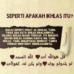 Ikhlas is __________________