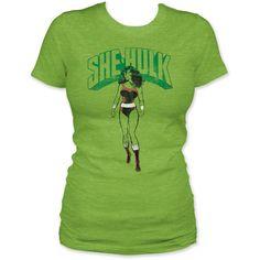The Incredible Hulk she-hulk junior's t-shirt heather green