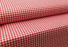 Piros-fehér kockás pamut (ME707) - Textil Webshop Függöny Karnis Rövidáru Varroda