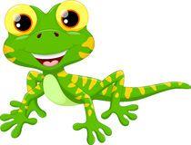 Cute lizard cartoon Stock Images
