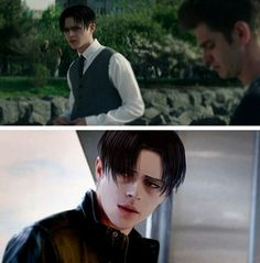 Omg Levi it's you please come to me *fangirls in the corner *