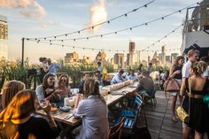 Rooftop bar Azul at Hotel Hugo - The industrial, mirrored foyer of Hotel Hugo evokes a stuffy airport customs line, with suitcase-toting out-of-towners to complete the image. But an elevator whisking...