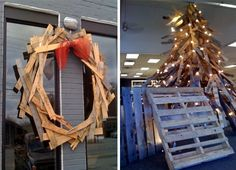 ReUse Pallets for Christmas Decor