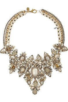 Regilla ⚜ ~ Erickson BeamonGirlie Queen gold-plated Swarovski pearl and crystal necklace