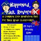 And Then What Happened,Paul Revere? Common Core Unit for TPT $10.00