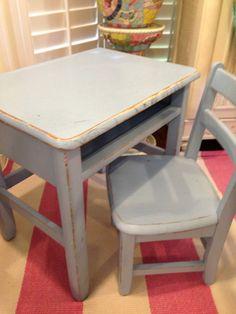 Beachy Blue Toddlers Desk Chair Set   eBay