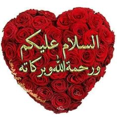 Valentine's Day Say it with the Heart of red roses ! Islamic Images, Islamic Pictures, Morning Pictures, Good Morning Images, Assalamualaikum Image, Jumma Mubarik, Jumma Mubarak Images, Good Morning Msg, Beautiful Prayers