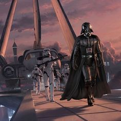 Vader and Storm Troopers advancing, #StarWars