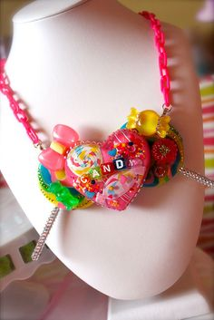 Candy Land Hearts and Lollipops - Candy Couture Collection Necklace by athinalabella1, via Flickr