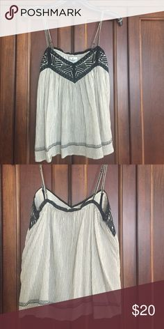 Strap top American Eagle Outfitters spaghetti strap top with adjustable straps. American Eagle Outfitters Tops
