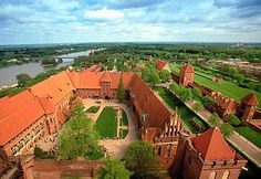 Castles don't come much bigger than the one in Malbork, Poland, near the Baltic Sea. The castle was founded by the Teutonic Order in 1274 and was expanded several times over the years to accommodate the increasing number of Teutonic Knights, of whom up to 3,000 may have lived here in the castle's heyday. It's considered one of the best examples of Gothic brick castle complexes in existence.