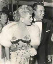 Lucille Ball Desi Arnaz original 1950's press photo together at Hollywood event