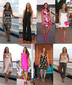 Not cruising, but this woman speaks much more to my desire to feel comfortable on vacation by never feeling under dressed dinner outfit How To Pack For a Cruise — J's Everyday Fashion Cruise Attire, Cruise Dress, Cruise Wear, Packing For A Cruise, Cruise Travel, Cruise Vacation, Clothes For A Cruise, Cruise Tips, Disney Cruise