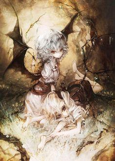 动漫 二次元 手绘 插画 p站 美少女 诡异 哥特 恶魔