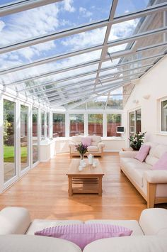 Inside view of a uPVC Conservatory from Everest                              …