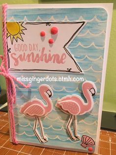 Flamingo card made wit Close To My Heart