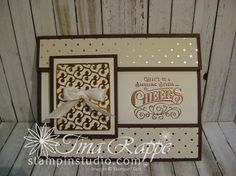 Here's to Cheers, Cheerful Tags Framelits Stampin' Up! Christmas