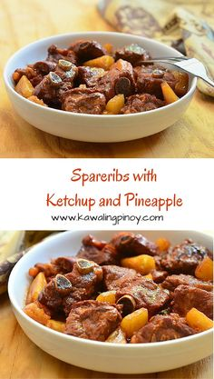 Spareribs with Ketchup and Pineapple