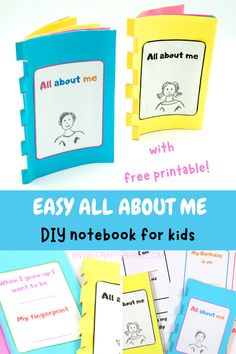 Easy All about me printable book for kids. Fun worksheet activity this summer for preschoolers, kindergarteners and elementary school kids. Fun bac to school craft activity. Preschool Books, Preschool Themes, Craft Activities, Paper Crafts For Kids, Book Crafts, All About Me Printable, All About Me Book, Back To School Crafts, Fun Worksheets