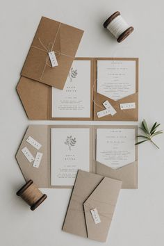 Hochzeitseinladung Pocket Fold Minimalistisch Botanical - New Ideas Diy Crafts For Gifts, Paper Crafts, Diy Birthday, Birthday Cards, Envelope Art, Origami Envelope, Pocket Wedding Invitations, Scrapbook Journal, Invitation Cards
