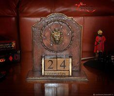 """Купить Вечный календарь """"Король лев"""" - коричневый, вечный календарь, идеальный подарок"""