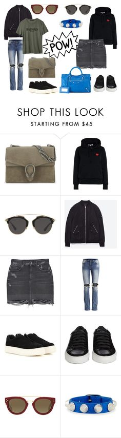 """spring 2k17"" by idafahlen on Polyvore featuring Gucci, Play Comme des Garçons, Christian Dior, MANGO, Eytys, Givenchy, CÉLINE and Balenciaga"
