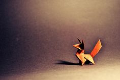 Why do the boring old been-there-done-that origami?! What does the Origami Fox say?! :P