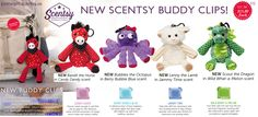 New Scentsy Buddy Clips for Fall 2015 in the Scentsy Kids Line. There is the Bandit the Horse,Bubbles the Octopus, Lenny the Lamb,and Scout the Dragon. They are filled with Scent beads in the scents listed above, measure 4.5 inches tall, have clips,and are $15.00 each. Great for back to school or order now to get started on Christmas or Stocking Stuffers. Available September 1. Scentsy Fall 2015 Scentsy Buddy Clips