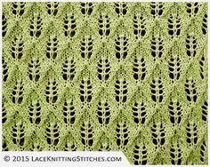 LACE KNITTING #1 - Fern or Leaf-Patterned stitch
