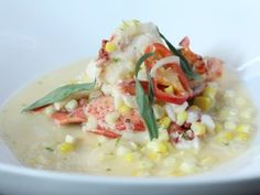 Corn and Lobster Chowder : Recipes : Cooking Channel Corn Recipes, New Recipes, Favorite Recipes, Game Recipes, Chowder Recipes, Seafood Recipes, Lobster Chowder, Lobster Meat