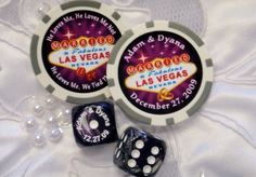 Cheesy?  Probably.  But still a great favor for a Las Vegas wedding.