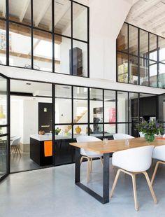 Küchentrennwand | haus | Pinterest | Raumteiler, Glaswände und ...