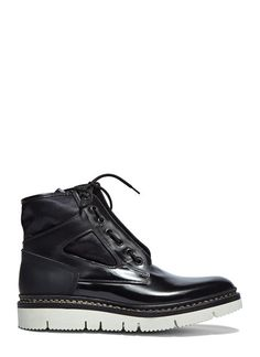 Mara Chunky Leather Ankle Boots
