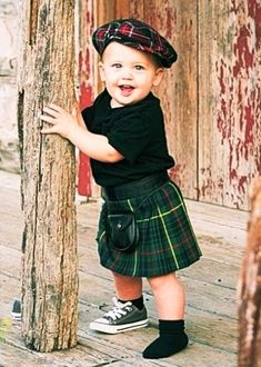 Just think how cute Baby Russell will look in his own kilt!