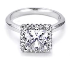 simple & square with little accents around the setting edge, from tacori. love love love.