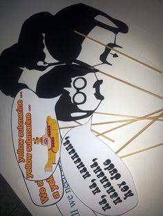 Placas e máscaras para fotos Festa Londres Beattles
